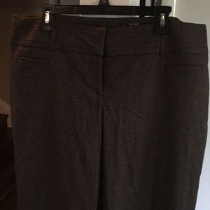 Dark brown wide leg trousers